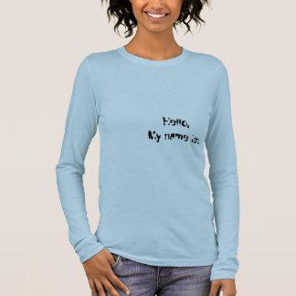 T-shirt À Manches Longues Bonjour, mon nom est :  Yaris