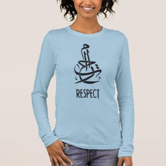 T-shirt À Manches Longues Calligraphie et anglais arabes de respect