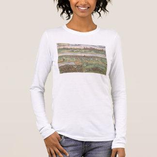 T-shirt À Manches Longues Carte de Nuremberg, d'Ulm, et de Saltzburg, de
