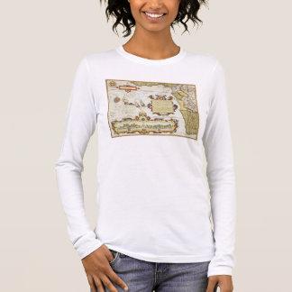 T-shirt À Manches Longues Carte du littoral d'Afrique occidentale, 1596