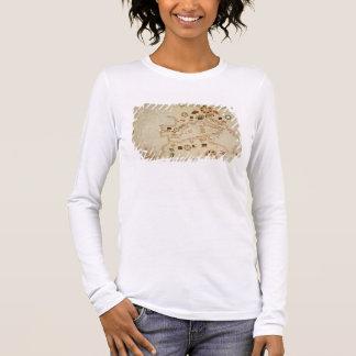 T-shirt À Manches Longues Carte nautique miniature du Mediterranea central