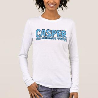 T-shirt À Manches Longues Casper le logo bleu 1 de fantôme amical