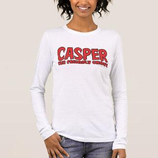 T-shirt À Manches Longues Casper le logo rouge 1 de fantôme amical