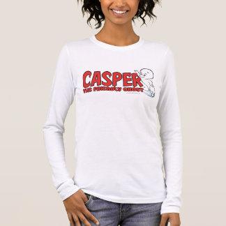 T-shirt À Manches Longues Casper le logo rouge 2 de fantôme amical