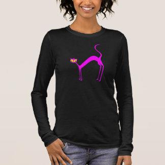 T-shirt À Manches Longues Chat rose de chat