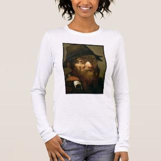 T-shirt À Manches Longues Chef d'un vieil homme, détail de portrait d'un