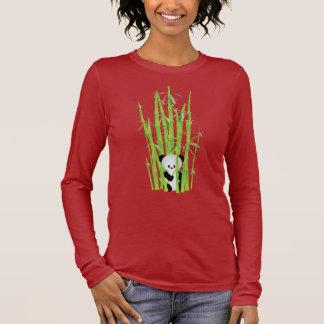T-shirt À Manches Longues Chemise à manches longues - panda se cachant dans