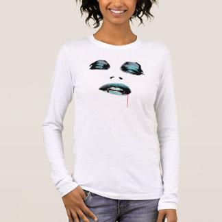 T-shirt À Manches Longues Chemise bleue de vamp