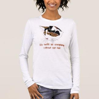 T-shirt À Manches Longues Chemise de cheveux de chat