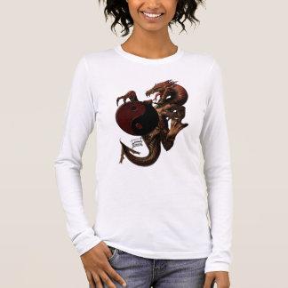 T-shirt À Manches Longues Chemise de douille de dragon de YingYang longue