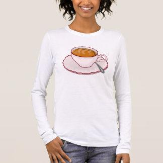 T-shirt À Manches Longues Chemise de douille de temps de thé longue
