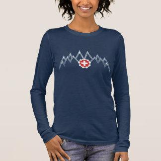 T-shirt À Manches Longues Chemise de douille des Alpes suisses des femmes