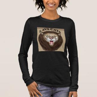 T-shirt À Manches Longues Chemise de logo de chat de lave