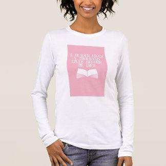 T-shirt À Manches Longues Chemisette pour un lecteur
