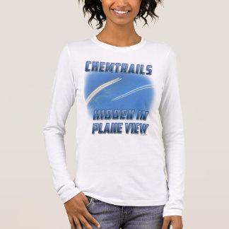 T-shirt À Manches Longues Chemtrails dans la vue plate