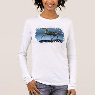 T-shirt À Manches Longues Cheval de trot (bronze)