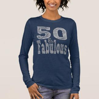 T-shirt À Manches Longues Cinquante et fabuleux en argent