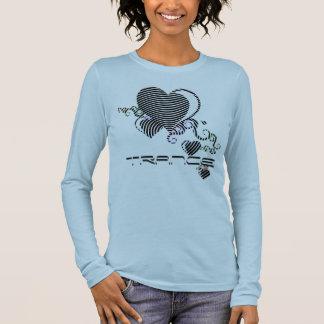 T-shirt À Manches Longues coeurs de gribouillis. transe