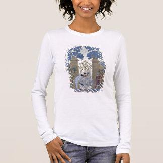 """T-shirt À Manches Longues Columbine, illustration pour des """"fêtes Galantes"""""""