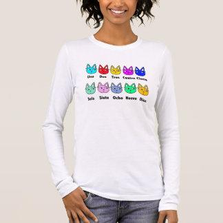 T-shirt À Manches Longues Compte des chats espagnols
