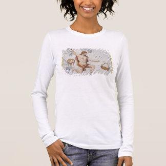 T-shirt À Manches Longues Constellation de Hercule avec la couronne et le