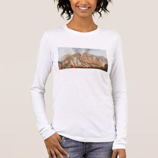 T-shirt À Manches Longues Cratère du mont Vésuve d'un dessin original