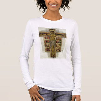 T-shirt À Manches Longues Crucifixion avec des histoires de la passion,
