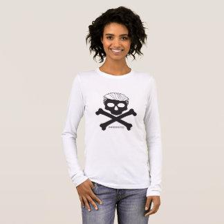 T-shirt À Manches Longues Dames T à manches longues - blanc avec le logo