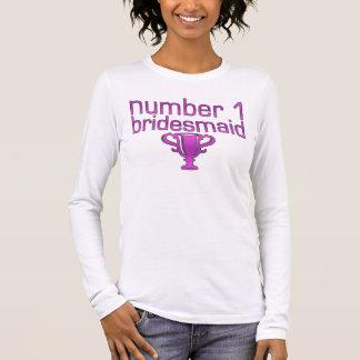 T-shirt À Manches Longues Demoiselle d'honneur du numéro 1