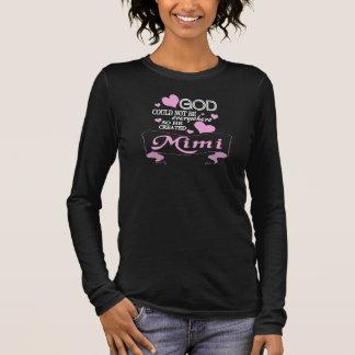 T-shirt À Manches Longues Dieu a créé MiMi