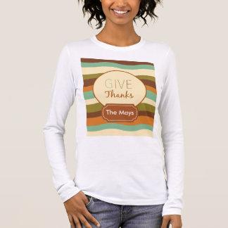 T-shirt À Manches Longues Donnez les mercis