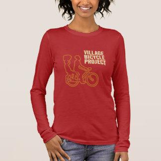 T-shirt À Manches Longues Douille des femmes de vélo la longue