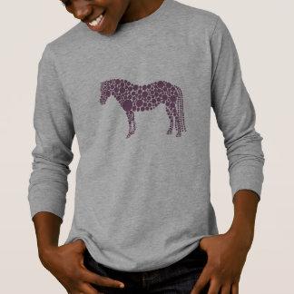 T-shirt à manches longues du poney des enfants
