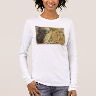 T-shirt À Manches Longues Edgar Degas | deux études des cavaliers