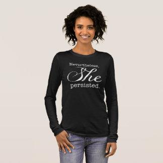T-shirt À Manches Longues Elle a persisté la longue version 2 de douille
