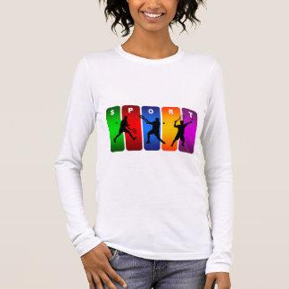 T-shirt À Manches Longues Emblème multicolore de tennis (mâle)