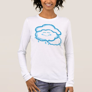 T-shirt À Manches Longues En grande partie nuageux