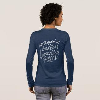 T-shirt À Manches Longues Enveloppé dans la grâce illimitée sans fin