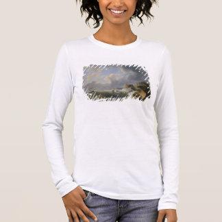 T-shirt À Manches Longues Expédition outre d'un littoral en mer agitée
