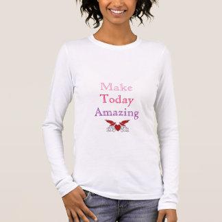 T-shirt À Manches Longues Faites stupéfier aujourd'hui