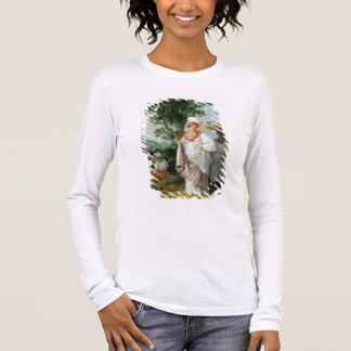 T-shirt À Manches Longues Femme créole indienne occidentale avec son employé