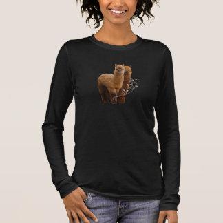 T-shirt À Manches Longues Femmes de chemise d'alpaga plus