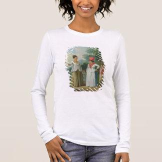 T-shirt À Manches Longues Femmes indiennes occidentales de couleur, avec un