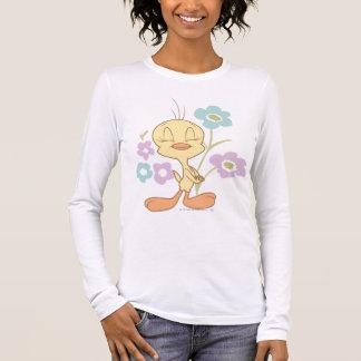T-shirt À Manches Longues Fleurs bleues pourpres de Tweety