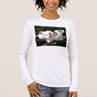 T-shirt À Manches Longues fleurs des magnolias de la femme de dames de