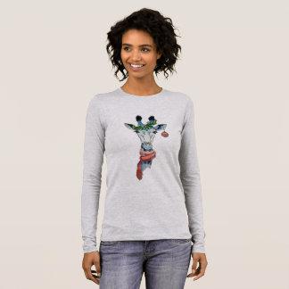 T-shirt À Manches Longues Girafe de neige