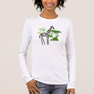 T-shirt À Manches Longues Girafe tribale - vert