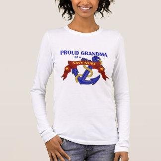 T-shirt À Manches Longues Grand-maman d'une arme nucléaire de marine