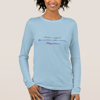 T-shirt À Manches Longues Haiku d'hippopotame