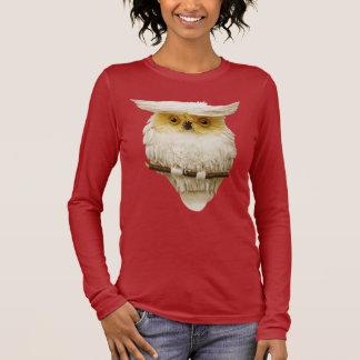 T-shirt À Manches Longues Hibou lunatique mignon